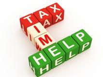 Ayuda del tiempo del impuesto ilustración del vector