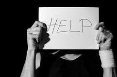 ayuda Depresión suicida foto de archivo