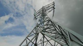 Ayuda eléctrica de los cables de transmisión de alto voltaje Industria energética almacen de metraje de vídeo
