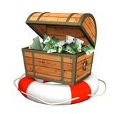 Ayuda en la crisis financiera Imagen de archivo libre de regalías