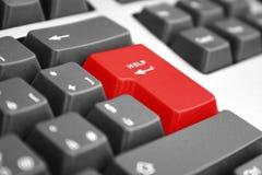 Ayuda en un teclado Fotografía de archivo
