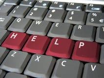 Ayuda en un teclado Foto de archivo