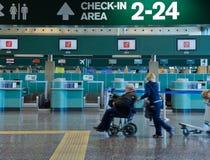Ayuda especial el aeropuerto Imágenes de archivo libres de regalías