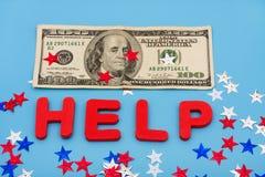 Ayuda financiera Foto de archivo libre de regalías