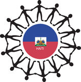 Ayuda Haití Foto de archivo