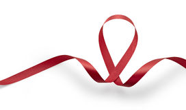 Ayuda a la cinta del rojo del conocimiento Fotografía de archivo