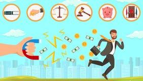 Ayuda legal plana haciendo frente a deudores stock de ilustración