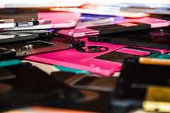 Ayuda magnética del disco blando del almacenamiento de datos del ordenador Imagenes de archivo