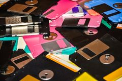 Ayuda magnética del disco blando del almacenamiento de datos del ordenador Imágenes de archivo libres de regalías