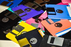 Ayuda magnética del disco blando del almacenamiento de datos del ordenador Fotografía de archivo libre de regalías