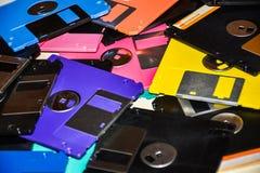 Ayuda magnética del disco blando del almacenamiento de datos del ordenador Fotografía de archivo