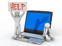 Ayuda que espera Fotos de archivo