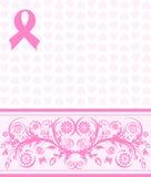 Ayuda rosada del cáncer de pecho de la cinta detrás Fotos de archivo