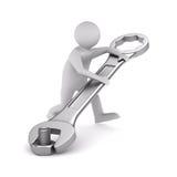 Ayuda técnica rápida en blanco Imágenes de archivo libres de regalías