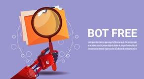 Ayuda virtual del robot de la búsqueda del Bot de la charla del sitio web o de las aplicaciones móviles, concepto de la inteligen Fotografía de archivo