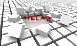 Ayuda y ayuda stock de ilustración