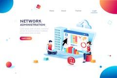 Ayuda y bandera del sitio web del Admin stock de ilustración