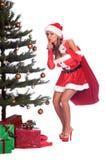 Ayudante atractivo de Santa fotografía de archivo libre de regalías