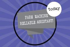 Ayudante confiable del material agrícola de la demostración de la muestra del texto La industria rural de la foto del equipo conc libre illustration