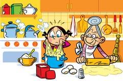 Ayudante de la abuela libre illustration