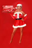 Ayudante de la Navidad de Santa fotografía de archivo libre de regalías