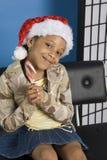 Ayudante de santa sonriente imágenes de archivo libres de regalías