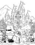 Ayudante del colmillo de Santas stock de ilustración