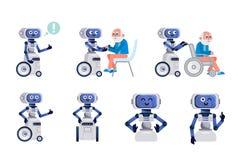 Ayudante del robot aislado libre illustration