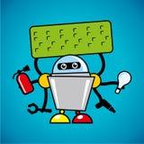 Ayudante del robot del vector Fotografía de archivo