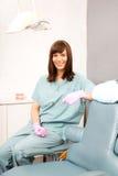 Ayudante dental foto de archivo