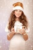 Ayudante dulce de Papá Noel Fotografía de archivo libre de regalías