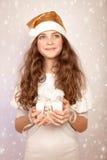 Ayudante lindo de Papá Noel Imagenes de archivo