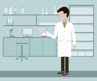 Ayudante o científico de laboratorio Imágenes de archivo libres de regalías