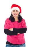 Ayudante sonriente de Santa imagen de archivo