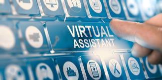 Ayudante virtual; Servicios personales del PA Foto de archivo
