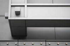 Ayudas de acero horizontales de la alameda de compras Fotos de archivo