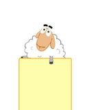 Ayudas de las ovejas para promover su asunto Imagen de archivo libre de regalías
