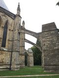 Ayudas del ladrillo para la capilla de la catedral de Lincoln fotografía de archivo libre de regalías