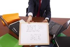 Ayude a este hombre de negocios Fotografía de archivo libre de regalías