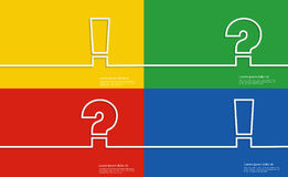 Ayude a los símbolos, al signo de interrogación y a la marca de exclamación Imagenes de archivo
