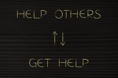 Ayude a otros más para conseguir más ayuda detrás stock de ilustración