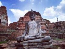 Ayudhaya Historical park, world heritage of Thailand Stock Photo