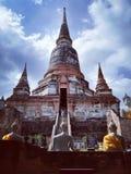 Ayudhaya Historical park, world heritage of Thailand Stock Photography