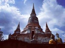 Ayudhaya Historical park, world heritage of Thailand Royalty Free Stock Photography