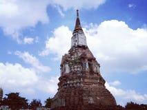 Ayudhaya Historical park, world heritage of Thailand Stock Photos