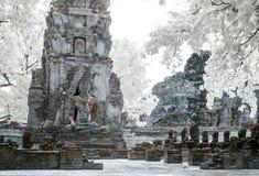 Ayudhaya The Historical park, world heritage of Thailand, shooti. Ng style with filter infrared 72 Stock Photo