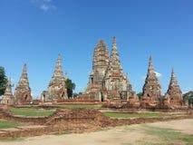 Ayudhaya Thailand historisk tempel arkivbild