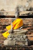 ayudhya菩萨s雕象泰国 库存照片