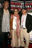 Ayuko Babu with Tamika Lamison and Clinton H. Wallace at the Pan African Film Festival Premiere of 'Layla'. Culver Plaza Theatre,  Stock Photos
