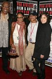 Ayuko Babu and Tamika Lamison with Clinton H. Wallace and Ursula Taherian at the Pan African Film Festival Premiere of 'Layla'. Cu Royalty Free Stock Photos